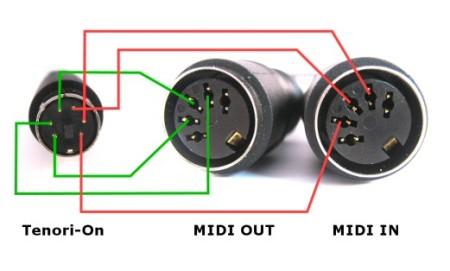 Tenori-On MIDI cable pin layout   Tonnemans Blog